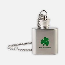 Custom Irish St. Patricks Day Flask Necklace