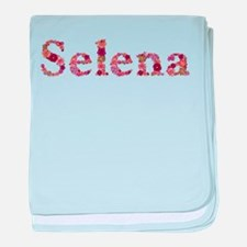 Selena Pink Flowers baby blanket