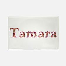 Tamara Pink Flowers Rectangle Magnet