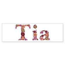 Tia Pink Flowers Bumper Bumper Sticker