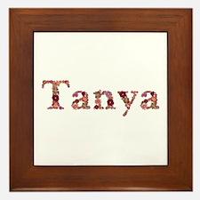 Tanya Pink Flowers Framed Tile