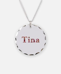 Tina Pink Flowers Necklace