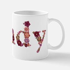Sandy Pink Flowers Mugs