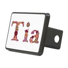 Tia Pink Flowers Hitch Cover