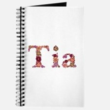 Tia Pink Flowers Journal