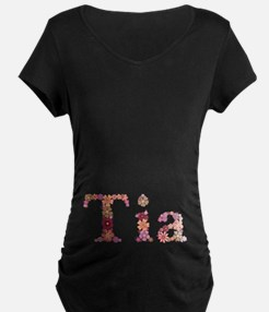 Tia Pink Flowers T-Shirt