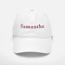 Samantha Pink Flowers Baseball Baseball Baseball Cap