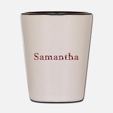 Samantha Pink Flowers Shot Glass
