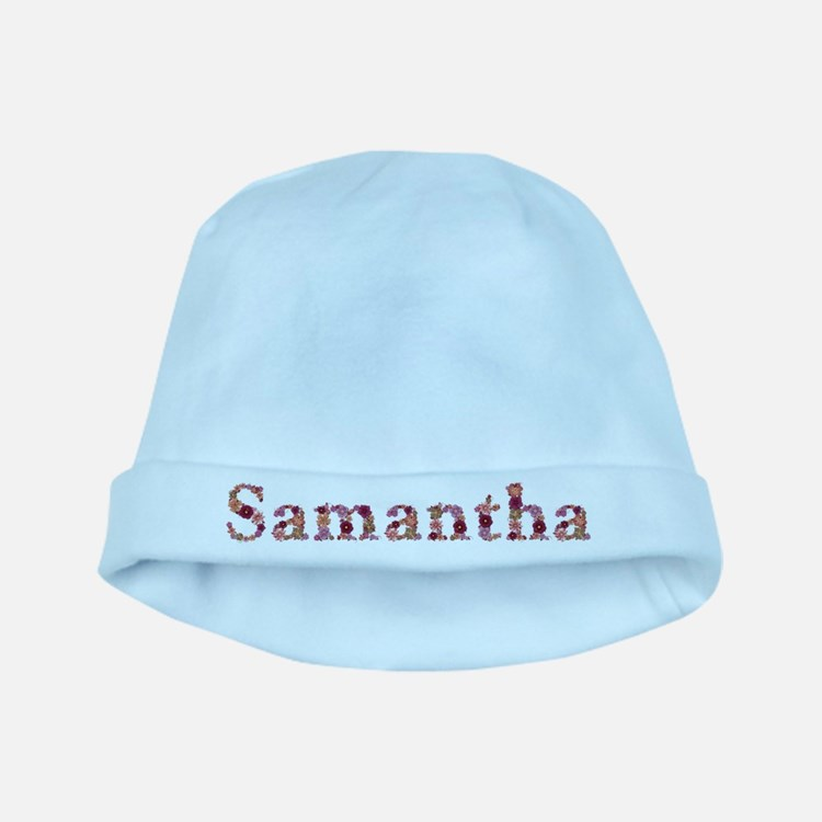 Samantha Pink Flowers baby hat