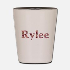 Rylee Pink Flowers Shot Glass