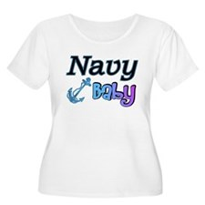 Navy Baby blue anchor T-Shirt