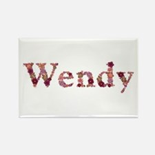 Wendy Pink Flowers Rectangle Magnet