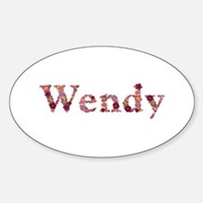 Wendy Pink Flowers Oval Decal