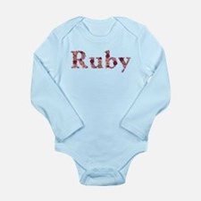 Ruby Pink Flowers Body Suit