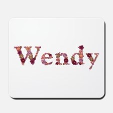 Wendy Pink Flowers Mousepad