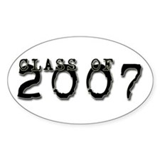Class of 2007 Typed Oval Decal