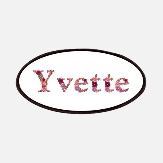 Yvette Pink Flowers Patch