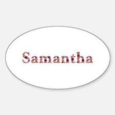 Samantha Pink Flowers Oval Decal