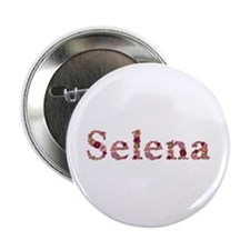 Selena Pink Flowers Button