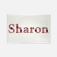 Sharon Pink Flowers Rectangle Magnet