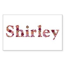 Shirley Pink Flowers Rectangle Decal