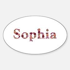 Sophia Pink Flowers Oval Decal