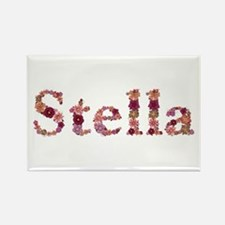Stella Pink Flowers Rectangle Magnet