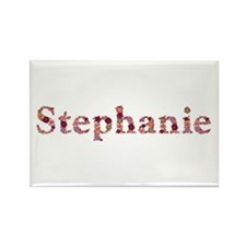 Stephanie Pink Flowers Rectangle Magnet