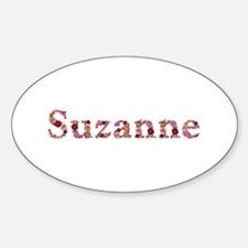 Suzanne Pink Flowers Oval Decal