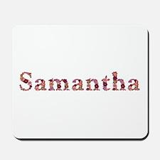 Samantha Pink Flowers Mousepad