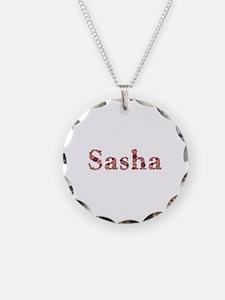 Sasha Pink Flowers Necklace