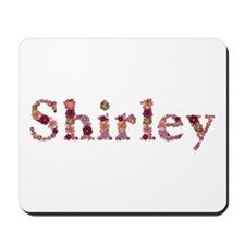 Shirley Pink Flowers Mousepad