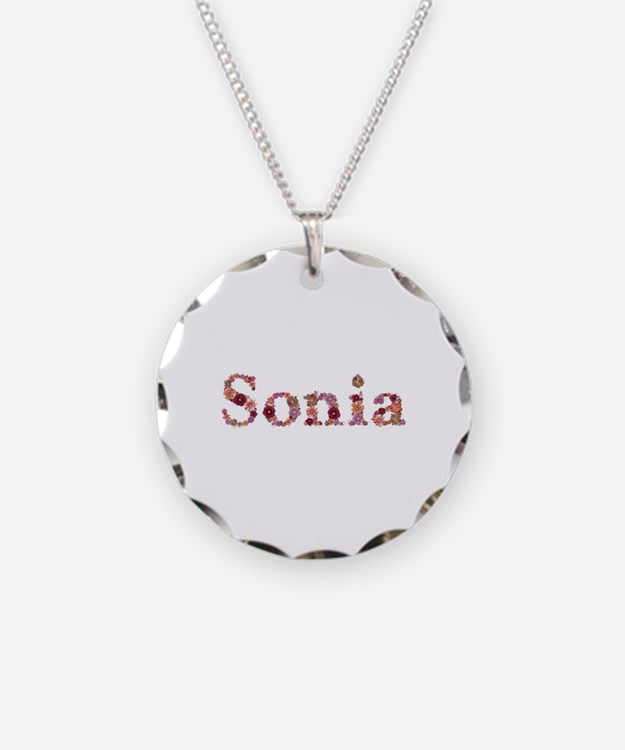 Sonia Pink Flowers Necklace