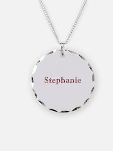 Stephanie Pink Flowers Necklace