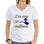 One in a Million Women's V-Neck T-Shirt