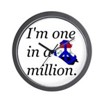 One in a Million Wall Clock