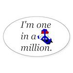 One in a Million Oval Sticker