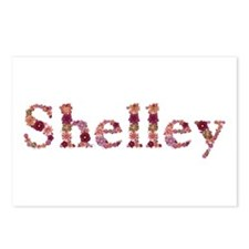 Shelley Pink Flowers Postcards 8 Pack