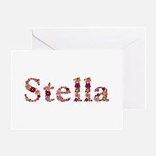 Stella Pink Flowers Greeting Card