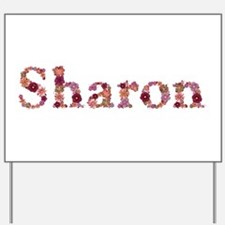 Sharon Pink Flowers Yard Sign