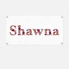 Shawna Pink Flowers Banner