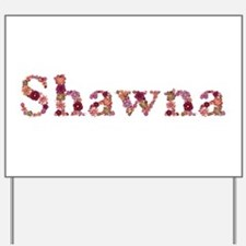 Shawna Pink Flowers Yard Sign