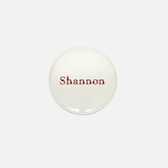 Shannon Pink Flowers Mini Button