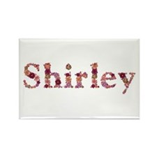 Shirley Pink Flowers Rectangle Magnet 100 Pack