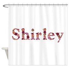 Shirley Pink Flowers Shower Curtain