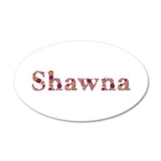 Shawna Pink Flowers Wall Decal