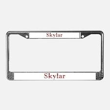 Skylar Pink Flowers License Plate Frame