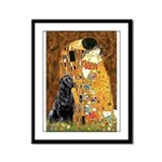 The Kiss & Black Lab Framed Panel Print