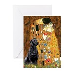 The Kiss & Black Lab Greeting Cards (Pk of 10)