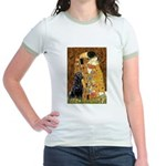 The Kiss & Black Lab Jr. Ringer T-Shirt